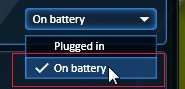 choosglu-on-battery-option