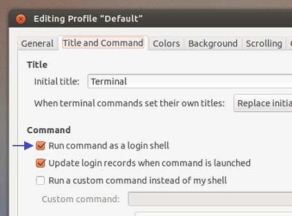 Enabling-Run-command-as-a-login-shell-option-in-Gnome-Terminal-window