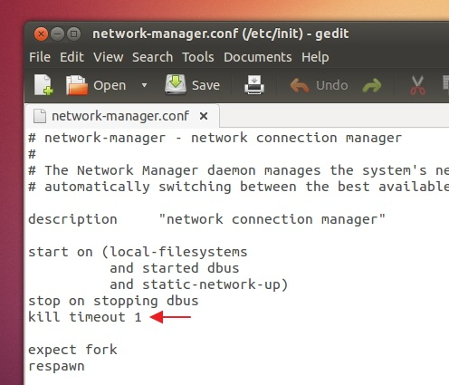 Killing-network-manager-in-1-second