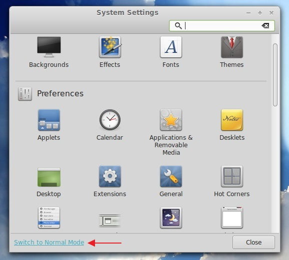 The-new-Control-Center-in-Linux-Mint-15-Cinnamon