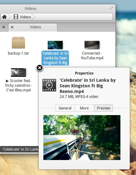 Beautiful looking 'pop-up' window & Preview feature - 'Pantheon-files'