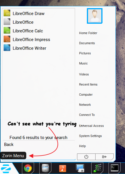 Typing-issues-on-Zorin-OS-8-Start-menu
