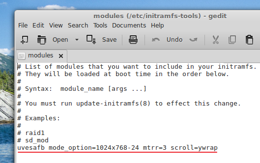 Removing the default entry on 'initramfs' - 'LMDE 2014 Cinnamon'