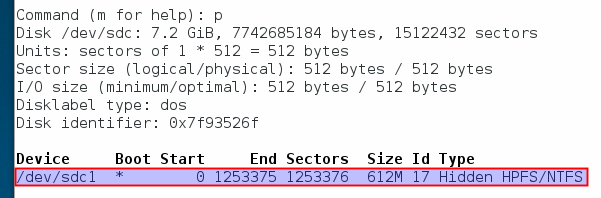 fdisk-showing-the-partition-table-of-the-pendrive-that-needs-correction-Fedora-21