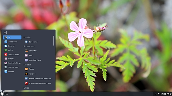 Budgie-desktop-shell-after-moving-the-task-bar-to-bottom-Solus-1.1