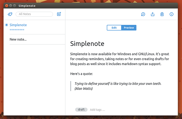 Simplenote-running-on-Ubuntu-15.10-with-markdown-syntax-support-enabled
