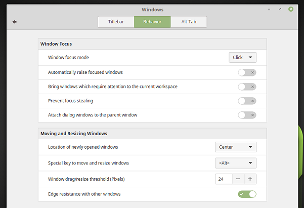 Tabbed-window-approach-to-System-Settings-Linux-Mint-18-Cinnamon