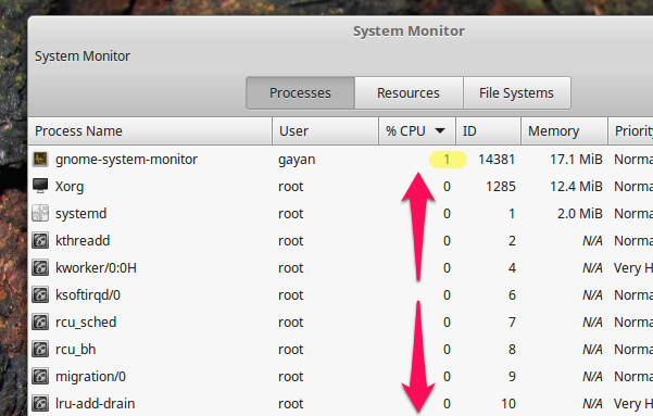 CPU-Usage-at-Idle-Linux-Mint-18.3-Cinnamon